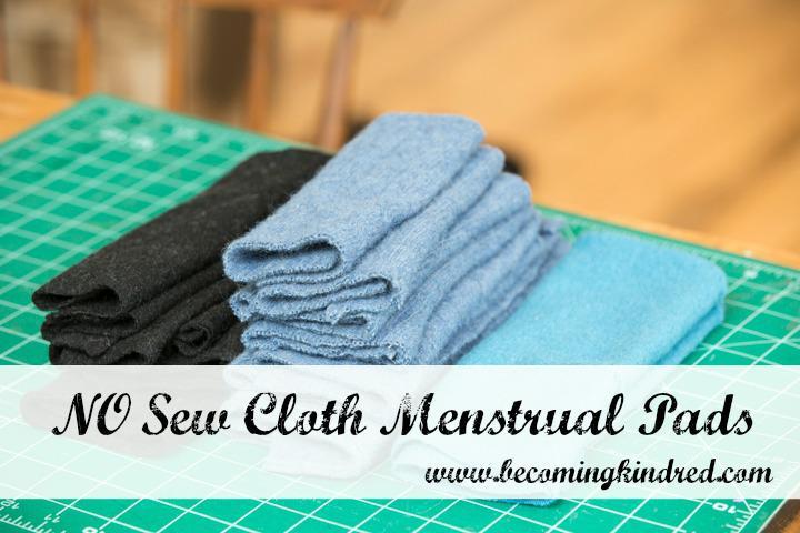 No Sew Cloth Menstrual Pads
