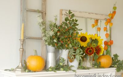 An Early Fall Mantel